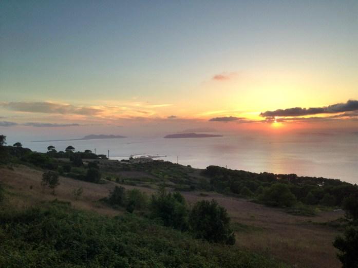 Islas Egadi, hermosa vista desde Érice, a pocos km de Trápani