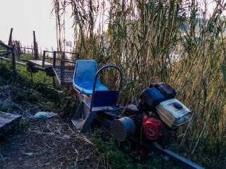 Carros utilizados en los viñedos para transportar los cajones de uvas.
