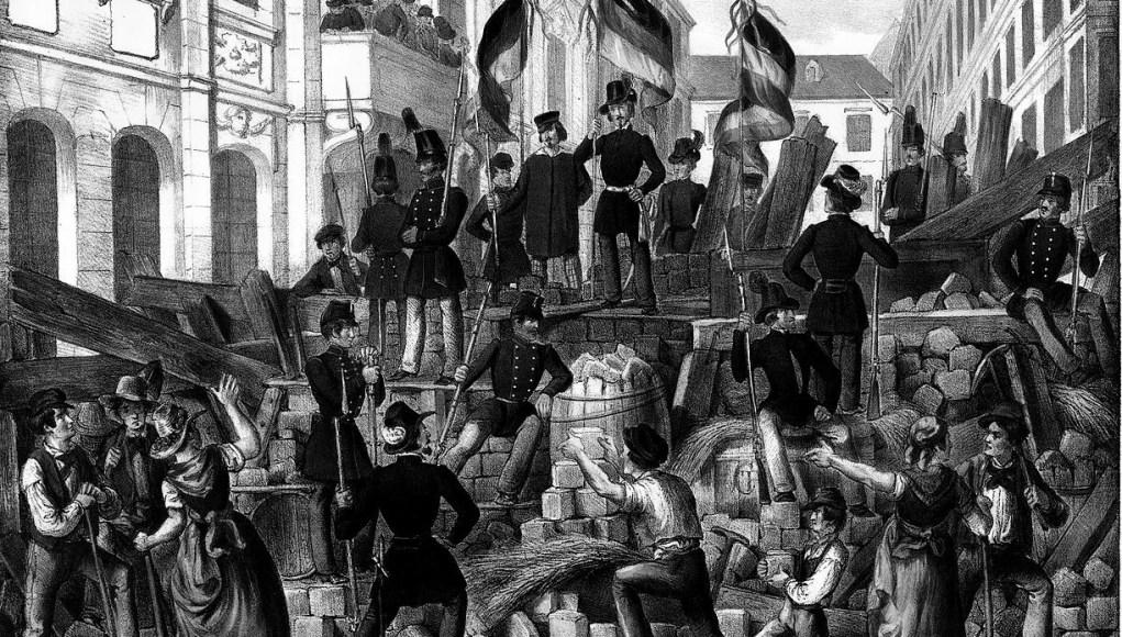 Barricadas nacionalistas, Viena, 1848. © WC