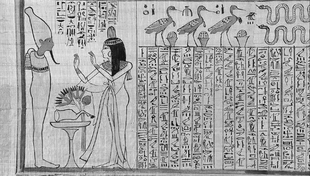 Papiro egipcio © Wikipedia