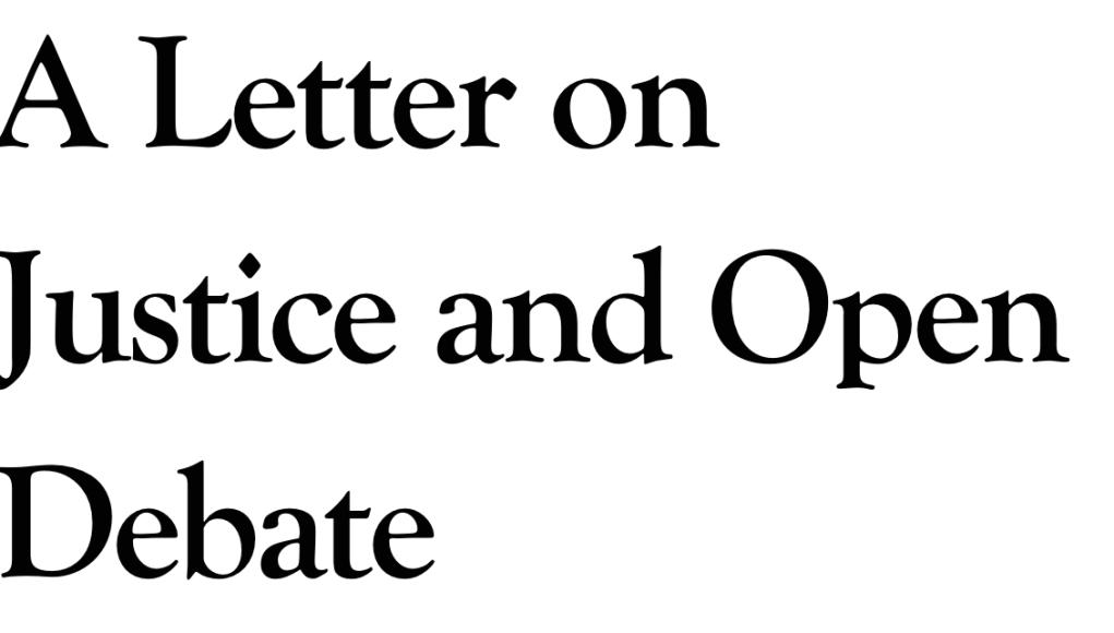 Carta abierta en Harper's a favor de la libertad de expresión