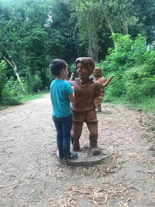 estatua parque de los sentidos