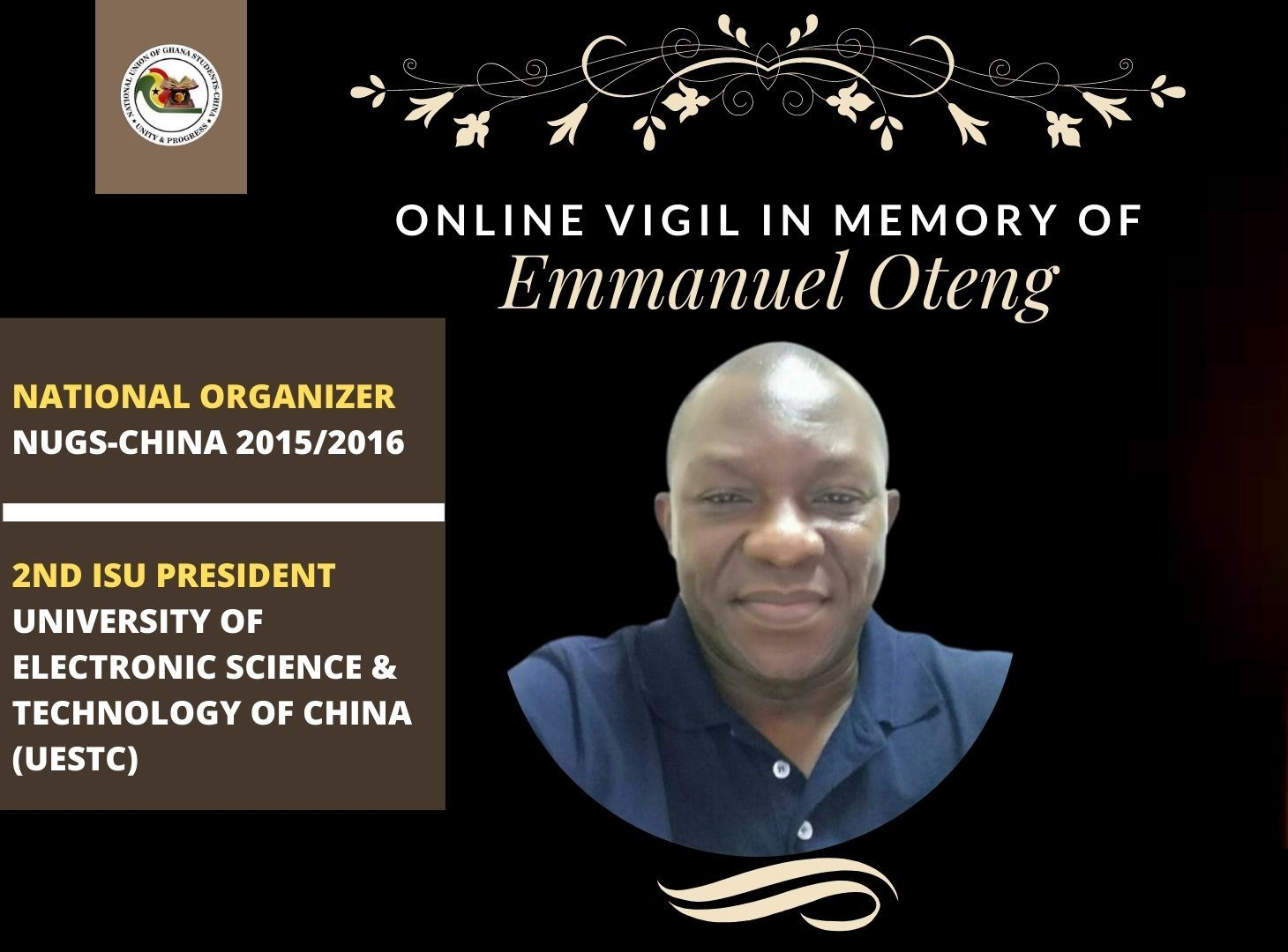 ONLINE VIGIL FOR THE LATE EMMANUEL OTENG
