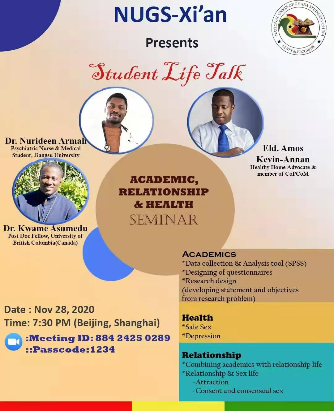 NUGS-Xi'an: Academic, Relationship & Health Seminar
