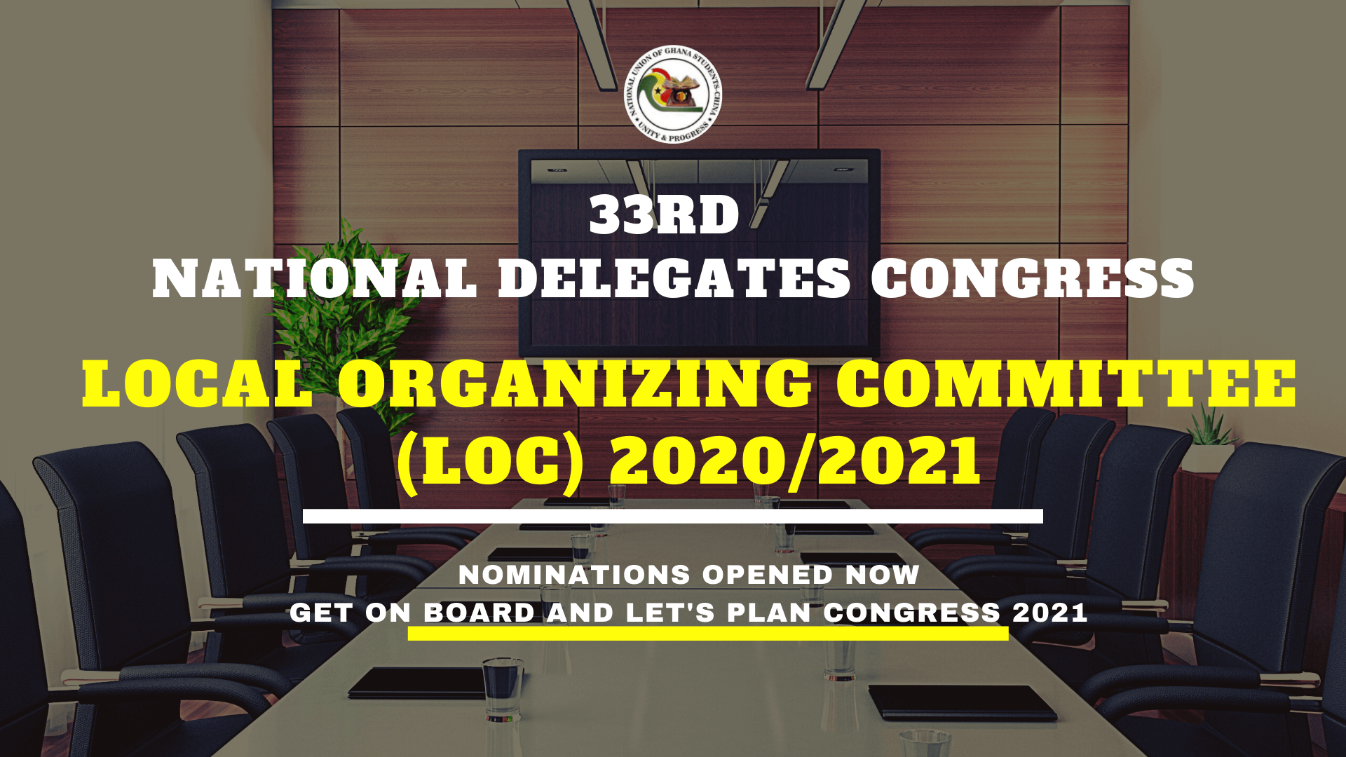 Opening of Nomination For LOC 2021
