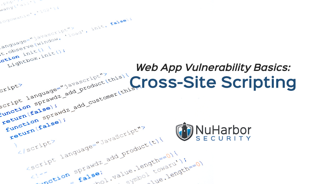 Web App Vulnerability Basics: Cross-Site Scripting