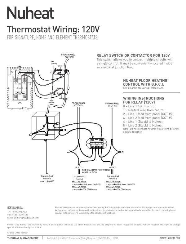 wiring diagram and instructions 2001 ford focus fuse element thermostat by nuheat floor heating tstat relaywiringdiagram 120v relay 240v