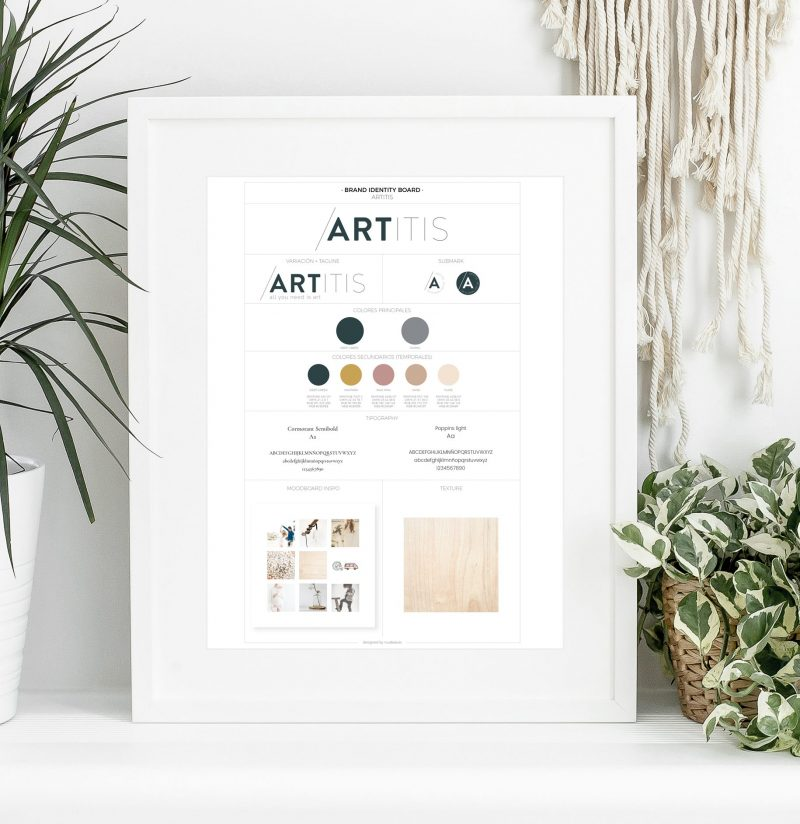 Brandboard for Artitis by NuIdeas Studio