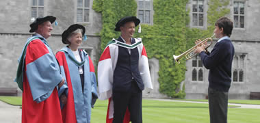 Pictured is Leonard Moran, Professor Rita Colwell and Enda Walsh