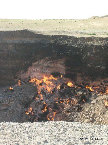 Пылающий кратер в Дарвазе (6 фото + 1 видео)
