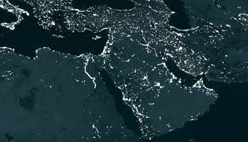 Moyen-Orient la nuit