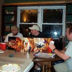 A group of male gamer gather to play D&D.