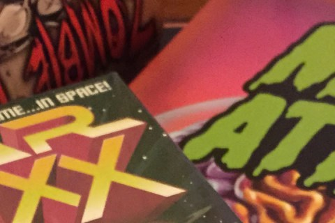 Cover art for Zombie Dice, Star Fluxx, and Mars Attacks.