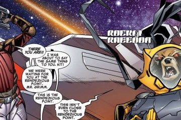 A page capture from the all-new Guardians of the Galaxy, featuring Kitty Pryde as Star-Lord.