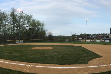 A baseball field in early spring.