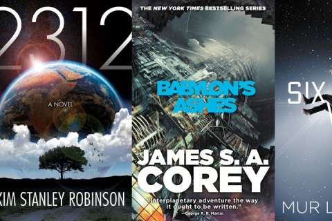 Several difference science fiction book covers shown side-by-side.