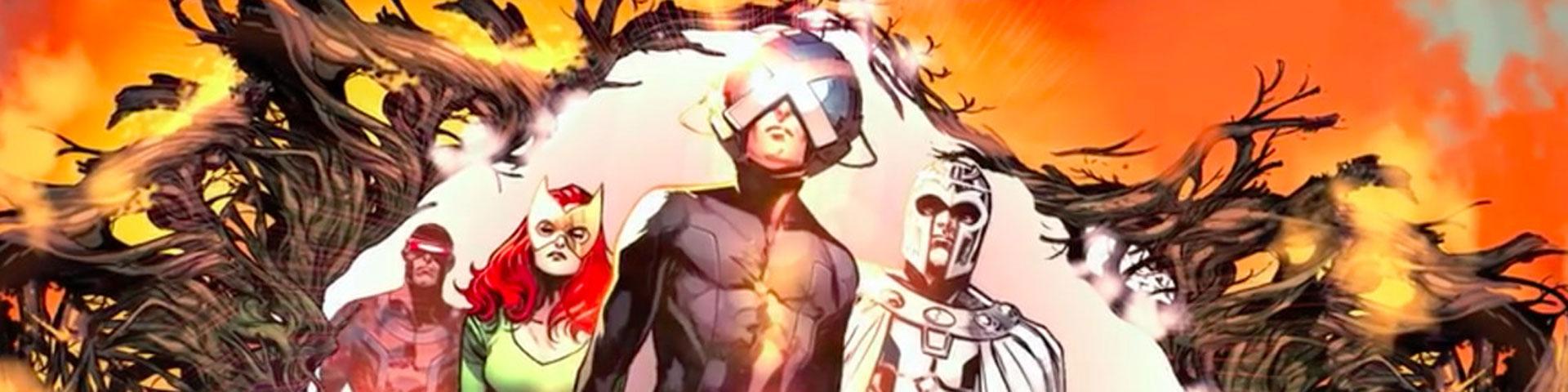 The X-men step through an otherworldly portal.