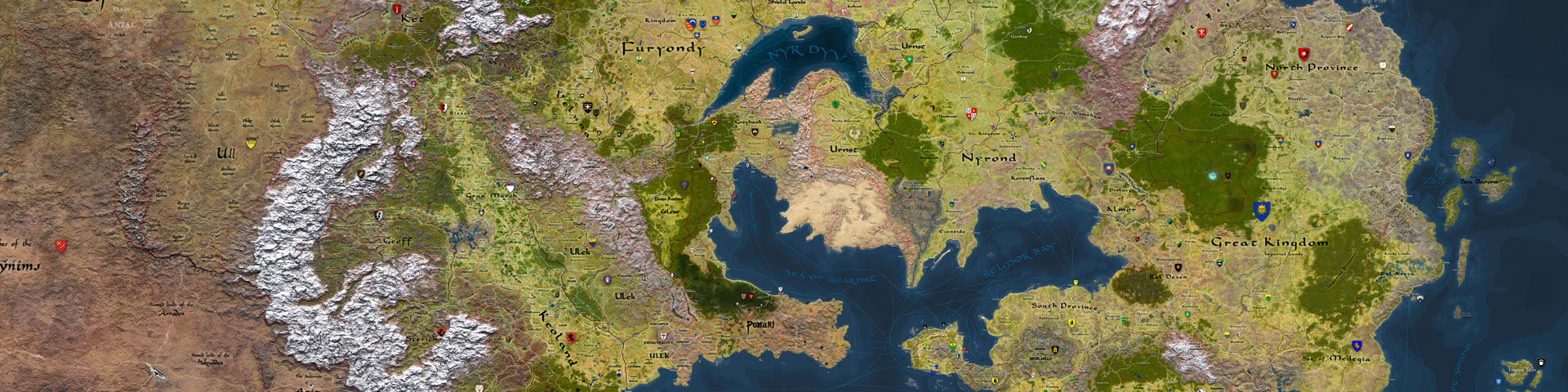 A map of the World of Greyhawk