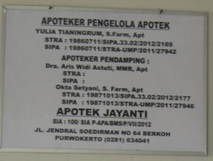pengelola apotik jayanti