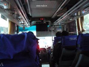 suasana dalam bus damri eksekutif