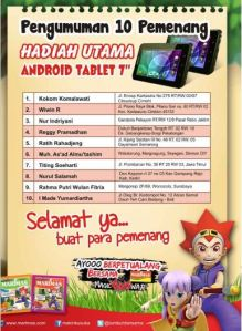 10 Pemenang Tablet Android Marimas Magic Han War