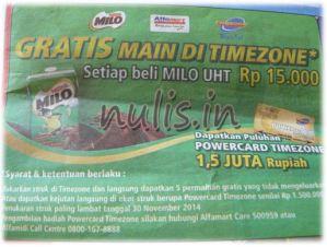 Alfamart, Milo, Timezone