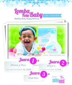 Lomba Foto Bayi Sebamed, Berhadiah Gadget & Tabungan Pendidikan