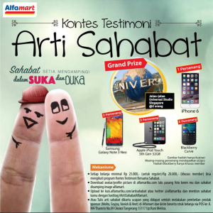 Kontes Testimoni Arti Sahabat (Alfamart) Berhadiah Jalan-Jalan ke Universal Studio
