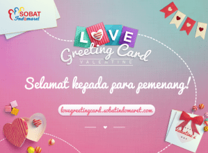 15 Pemenang Love Greeting Card - Indomaret