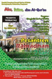 Ikutilah Pesantren Ramadhan 7 Hari : Aku, Islam & Al - Quran