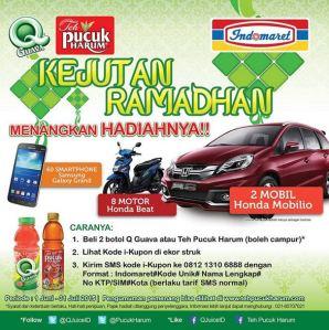 Kejutan Ramadhan Q-Guava & Teh Pucuk Berhadiah Honda Mobilio!