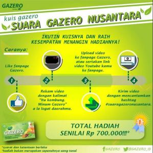 Buat Video Suara Gazero Nusantara Berhadiah Uang Tunai Rp.700.000,-