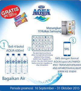 Rangkai Kata Aqua Alfamidi Berhadiah Kulkas Samsung