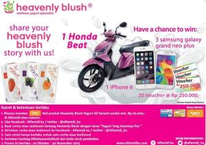 Testimoni Heavenly Blush Berhadiah Honda Beat