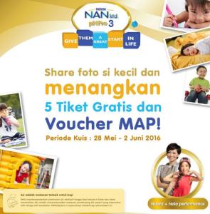 Share Foto Sikecil, Menangkan Tiket Gratis & Voucher MAP