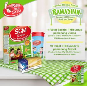 Lomba Resep Sehat Buah & Sayur (SGM) Berhadiah Voucher Belanja