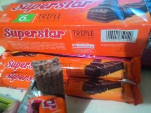 Wafer Superstar : Kehilangan Gambar Superman