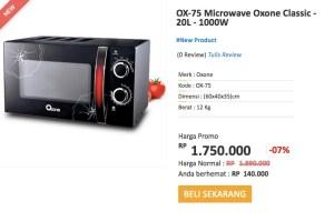 Oxone Classic Microwave (OX-75) Hadiah Shopping Race Alfamart