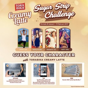 Sugar Strip Challenge Torabika Berhadiah Voucher MAP