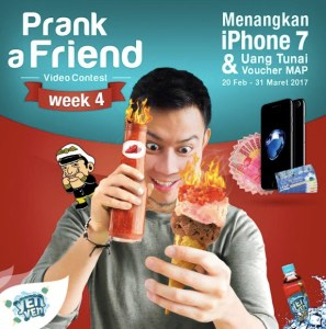 Prank A Friend Video Contest Berhadiah Iphone 7