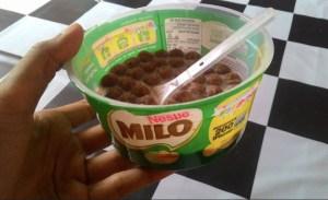 Cereal Sarapan Milo : Bulat Kecil Mengenyangkan Cerealnya