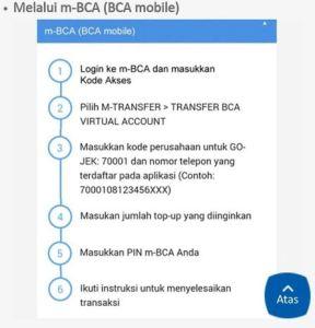 Mudahnya Mengisi Saldo OVO & Gopay Via M-BCA (BCA Mobile)