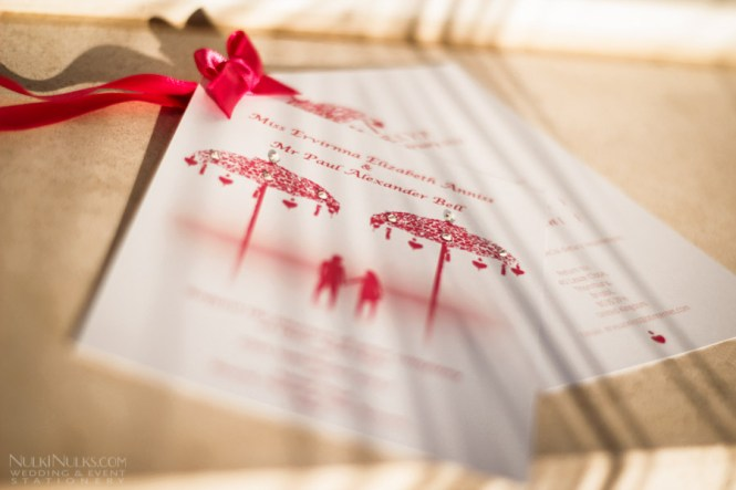 Bali Nights Collection Wedding Invitation Cards With