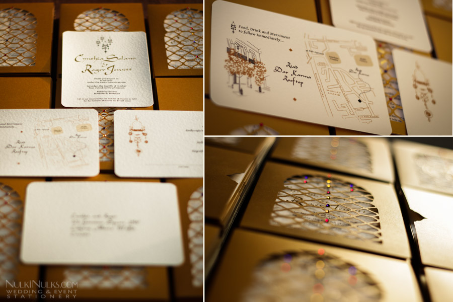Exclusive Moroccan Theme Collection  Wedding Invitations and Save the Date Cards  by Nulki Nulks