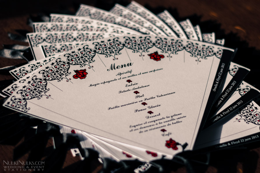 Wedding Fans Collection  Creative and Unique Invitations Save The Dates and Wedding Menus  by
