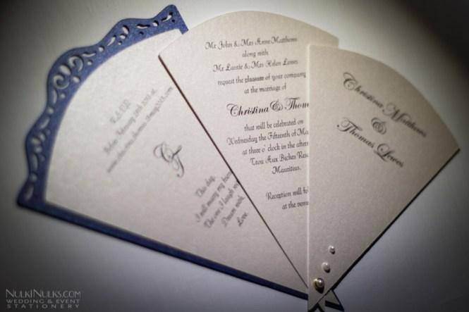 Swivel Fan Wedding Invitation Lace