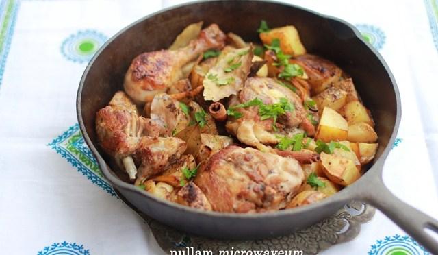 Gesmoorde kip met citroen en oregano aardappelen