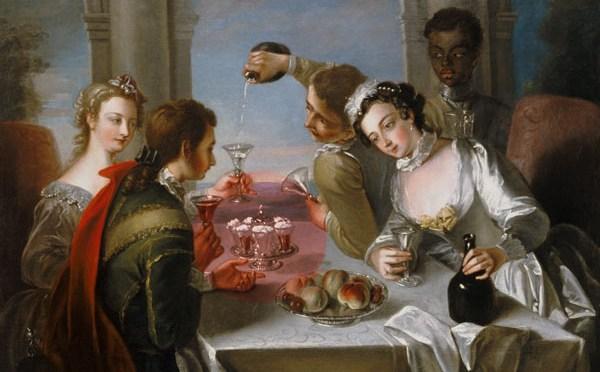 Sensuele Syllabub van aardbeien met rosé wijn