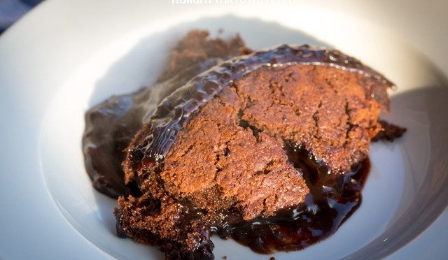 Australische chocolate pudding