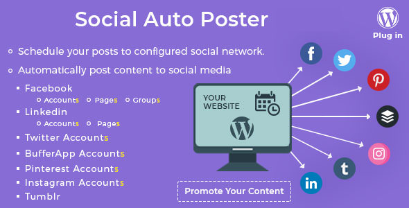 Social Auto Poster v2.7.6 - WordPress Plugin